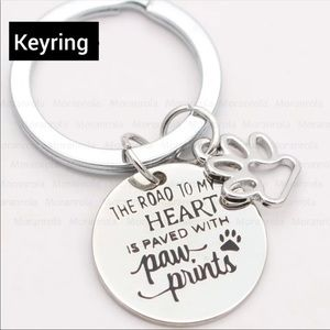 Road to my heart keyring.